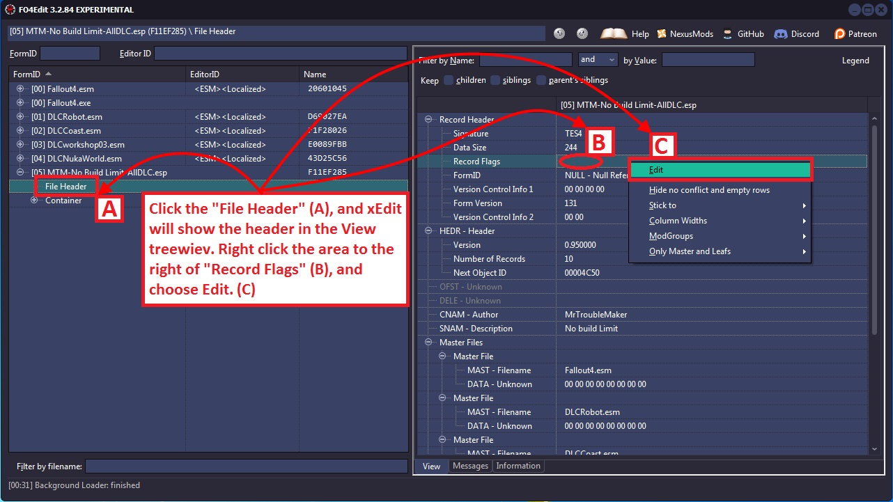 Xedit Managing Mod Files Tome Of Xedit Recommended to be at top of load order. xedit managing mod files tome of xedit
